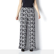 Fizz Print Jersey Palazzo Trousers by Michele Hope
