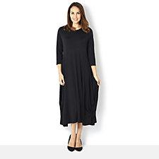 163744 - Yong Kim Jersey Maxi Dress Gathered Side Hem