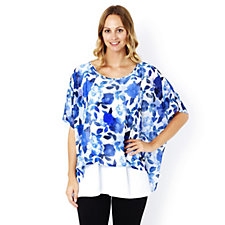 Join Clothes Printed Chiffon Jersey with Underlayer Tunic