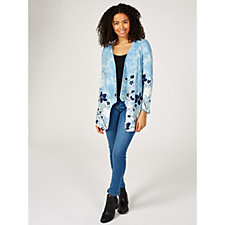 Artscapes Printed Cardigan with Curved Hem