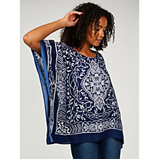 171044 - Printed Woven Scarf Top by Susan Graver