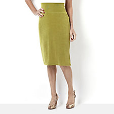 Kim & Co Petite Stretch Jersey Pencil Skirt with Wide Waistband
