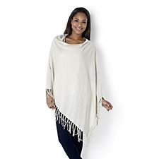 MarlaWynne Fringe Detail Knitted Poncho