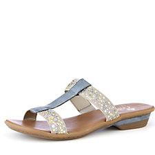 Rieker Open Toe Embellished Mule Sandal