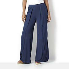 H by Halston Fly Away Jersey Wide Leg Trouser