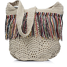 The Sak Heritage Crochet Fringed Bucket Bag