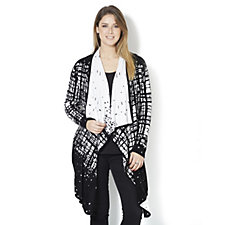 MarlaWynne Checked Duster Cardigan