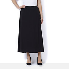 Bob Mackie Pull On Midi Skirt with Hi-Lo Hem