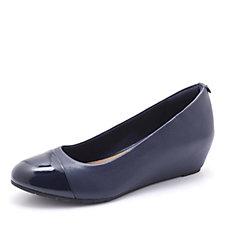 Clarks Vendra Dune Wedge Heel Court Shoe