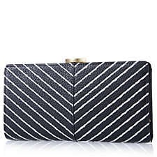Lulu Guinness Frame Stripe Leather Purse