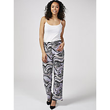 Swirl Print Pull On Trousers by Michele Hope