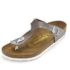 Birkenstock Gizeh Pearly Toe Post Sandal with Stud Detail Wide Fit