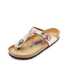 Birkenstock Gizeh Metallic Toe Post Sandal with Soft Footbed