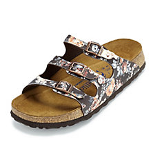 Papillio Florida Rambling Rose Print Soft Footbed Sandal by Birkenstock