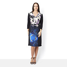 Fashion by Together Floral Print Panel Dress