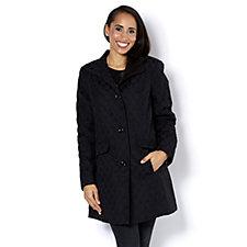 Centigrade Jaquard Stand Collar Coat