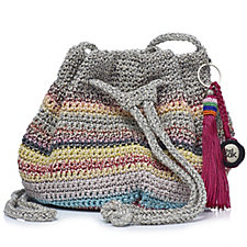 The Sak Moraga Crochet Small Drawstring Bag