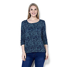 Antthony Designs Printed 3/4 Sleeve Top
