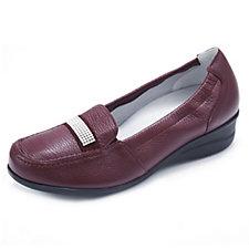 Vitaform Leather Loafer with Swarovski Detail