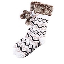 Muk Luks Faux Fur Cuffed Socks