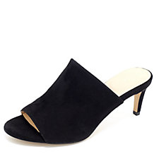 Clarks Amali Astra Suede Mule Sandal with Kitten Heel