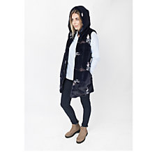 Pia Rossini Annecy Faux Fur Hooded Gilet
