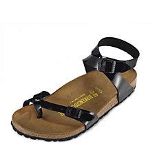 Birkenstock Yara Cross Strap Toe Loop Patent Sandal