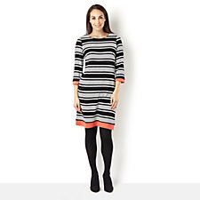 157047 - Ronni Nicole 3/4 Sleeve Stripe Shift Dress