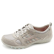 Skechers Active Breathe Easy Relaxed Fit SuedeTrim Trainer with Memory Foam