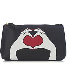 Lulu Guinness Heart Hands T-Seam Pouch