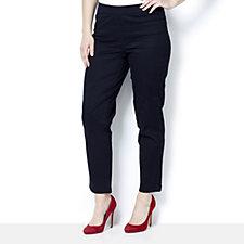 Isaac Mizrahi Live Peached Sateen Regular Pull On Trousers