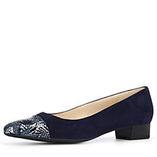 Peter Kaiser Pointed Flat Pump with Toe Detail