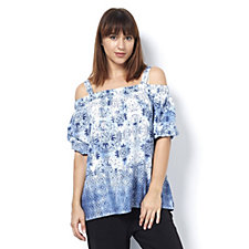 Together Printed Bardot Top