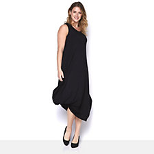 Yong Kim Sleeveless Gathered Hem Maxi Dress