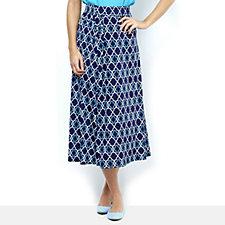 Olivia Tile Print Maxi Skirt by Onjenu London