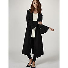 Helene Berman Frill Sleeve Edge To Edge Crepe Jacket