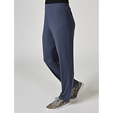 Liquid Knit Straight Leg Regular Trousers by Susan Graver