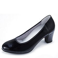 Vitaform Stretch Leather Patent Court Shoe