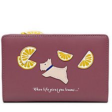 Radley London Lemons Medium Leather Zip Top Purse