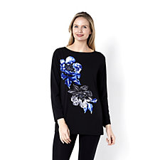 155848 - Placement Print Bateau Neck Tunic by Susan Graver