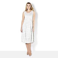 Yong Kim Crinkle Cotton Sleeveless Dress with Pocket Detail