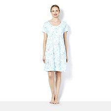 Carole Hochman Printed Short Sleeve Nightshirt