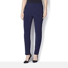 Straight Leg Jersey Trousers by Nina Leonard