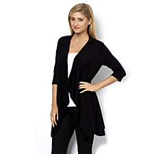 Join Clothes 3/4 Sleeve Waterfall Front Cardigan