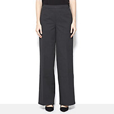 H by Halston Full Length Petite Wide Leg Trousers
