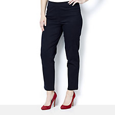Isaac Mizrahi Live Peached Sateen Petite Pull On Trousers