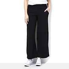 Anybody Loungewear Fold Over Waistband Wide Leg Trousers