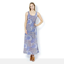164648 - Ronni Nicole Burnout Lace Sleeveless Maxi Dress