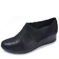 Clarks Caddell Denali Slip On Shoe with Wedge Heel
