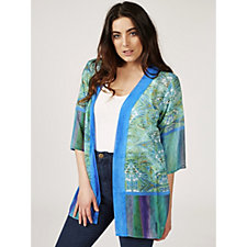 Printed Sheer Chiffon Jacket by Susan Graver